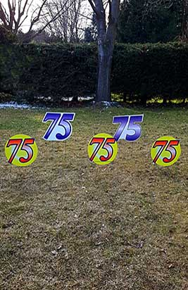 All Occasion Number Sign Samples